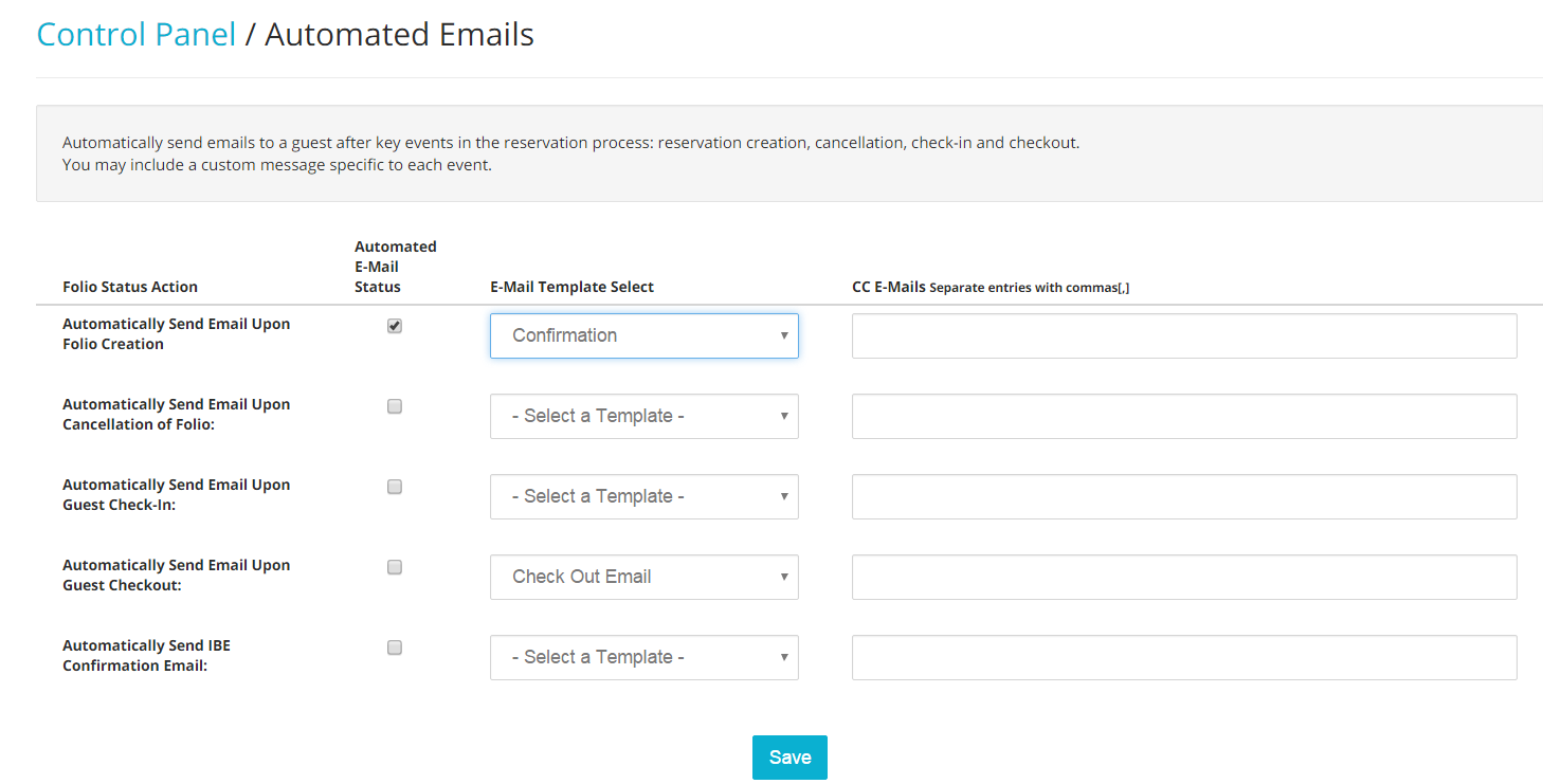 Guest Messages and Emails – Guest Check Template